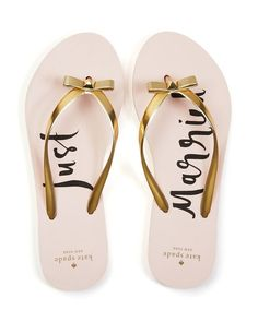 0a9647a807d209 kate spade new york Nadine Just Married Flip-Flops Shoes - Sandals - Flat  Sandals - Bloomingdale s