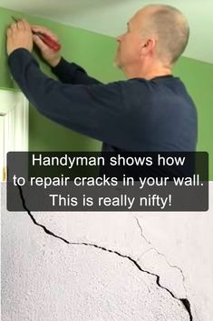 Framing those boring mirrors d i y projects pinterest walls handyman shows how to repair cracks in your wall this is really nifty diy solutioingenieria Images