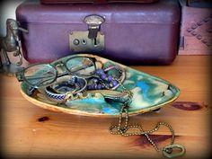 Mid-Century Dryder Ashtray by RyansBricaBrac on Etsy.   #midcentury #art #deco #Ashtray #dryer #Arkansas #Blue #green #brown #catchall #decor #vintage #retro #pottery #hipster #hippie #rustic #1950s #1960s #1970s #style #decoration #boho #modern