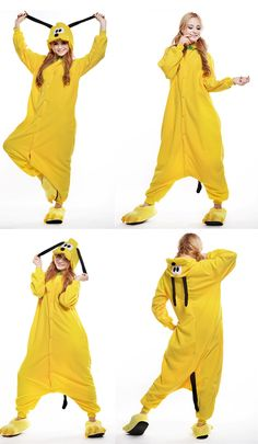 Adult Unisex Pluto Dog Animal Onesies Yellow Pajamas Cosplay Sleepwear  Costumes Dog Dresses 142bffd13