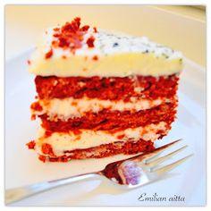 Red Velvet cake, Red velvet kakku, gluteeniton red velvet cake, gluteeniton, pyhäinmiestenpäivä, halloween
