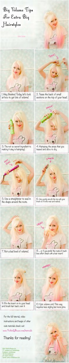 Simple Tips for big hair! | Violet LeBeaux- Cute Free Craft Tutorials