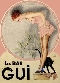 Vintage Ad- Les Bas Gui Stockings. 1930s