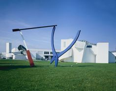 Balancing Tools by Claes Oldenburg & Coosje van Bruggen, installed at the Vitra campus in 1984.  Photo by: Andreas Sütterlin