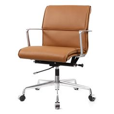 Are you ready to become a top performer in your office? Let the Carnegie Office Chair in Blue Italian Leather assist you in raising your office productivity! Stay cool and collected with the help of the brown Italian leather upholstery, and the. Used Office Chairs, Best Office Chair, Executive Office Chairs, Office Chair Without Wheels, Home Office Chairs, Office Furniture, Comfortable Office Chair, Conference Chairs, Conference Room