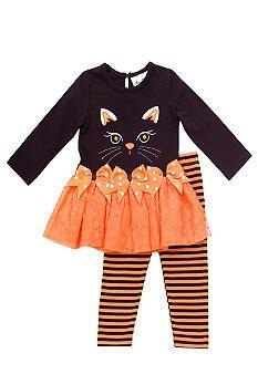 Rare Editions Cat Tutu Legging Set Toddler Girls