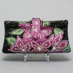 Flowers pot  Swarvoski Crystal handmade evening bag