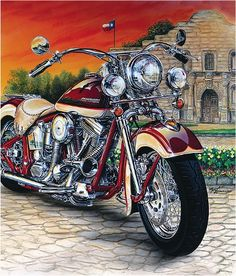 Harley Riders IN NC Lost a true friend & brother on June Ride on into the sunset. Harley Bikes, Harley Davidson Motorcycles, Motorcycle Art, Bike Art, David Mann Art, Harley Davidson Images, E Motor, Harley Davidson Street Glide, Cool Motorcycles