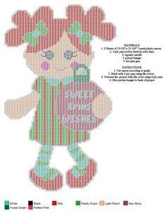 Doll set 2 Plastic Canvas Christmas, Plastic Canvas Crafts, Plastic Canvas Patterns, Mantel Redondo, Canvas Paper, Canvas Board, Cute Dolls, Little People, Cross Stitching