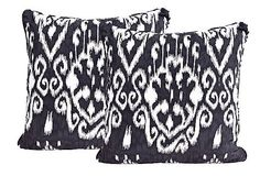 Black & White Ikat Pillows - Mary McDonald