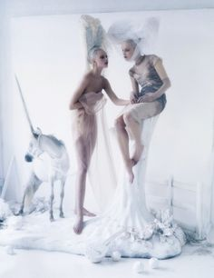 Frida Gustavsson and Mirte Maas in Vogue US May 2012 by Tim Walker.