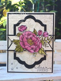 handmade card ... Birthday Blooms ... like the layout ... Stampin' Up!