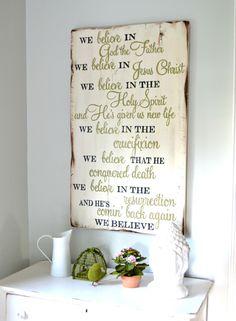 We believe || wood sign by Aimee Weaver Designs