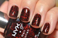 NYX Girls in Dorothy. #nails Ah! I've been looking for a good knock off of Lippmann's Ruby Red Slippers - found it!! Now..can this be found in Canada?? Hmm.