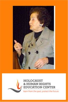 """Judy Altmann, Holocaust Survivor - She was arrested and transported to Auschwitz concentration camp with her niece in 1944, where they were selected for work. From there she was sent to Essen and Gelsenkirchen Labour camps where she remained until March 1945. She survived the """"death march"""" that ended in the Bergen Belsen concentration camp, and was liberated in 1945 by the British Army."""