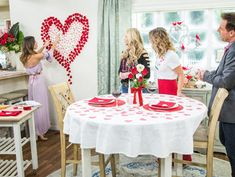 Paige Hemmis and Orly Shani team up for some fun Valentine's Day DIYs including a romantic walkway and heart-shaped wall decor. Home And Family Crafts, Hallmark Homes, Romantic Gestures, Last Minute, Valentines Diy, Some Fun, Wall Decor, Diy Crafts, Hallmark Channel