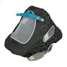 Turn your infant car seat carrier into a soft cocoon that shields baby from sun, wind, and insects. This ingenious UPF 50+ carrier cover is lightweight and well ventilated for babys comfort. With mesh viewing window and roll-down shade for naptime. The elasticized front pocket holds small necessities. Cover goes on easily and fits most infant car seat carriers. baby-doster