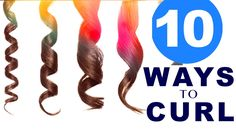★ 10 EASY Lazy WAYS to CURL Your HAIR   HAIRSTYLES