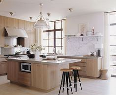 Kitchen Dreams. Limed Oak Cabinets. Interior Designer: Thomas O'Brien of AERO Studios. 7 Kitchen Trends To Look For in 2015