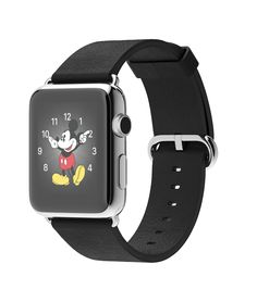 Apple Watch 42mm Stainless Steel Case with Black Classic Buckle  http://store.apple.com/xc/product/MJ3X2LL/A