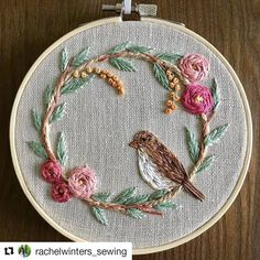 Here's another hoop that I started over 6 months and picked up again this week. Hand Embroidery Patterns Flowers, Basic Embroidery Stitches, Creative Embroidery, Hand Embroidery Stitches, Silk Ribbon Embroidery, Embroidery Hoop Art, Hand Embroidery Designs, Floral Embroidery, Sewing Crafts