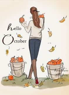 Rose Hill Designs by Heather Stillufsen Rose Hill Designs, Hello Weekend, Illustrations, Hello Autumn, Autumn Fall, Months In A Year, Happy Fall, Fall Season, Fall Halloween