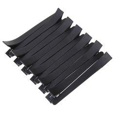 12 unids Negro Boca de Pato Clips de Peluquería Hair Styling Salon Flat Metal Sección Accesorios de la Pinza de Pelo de Corte de Pelo Herramientas Pinzas