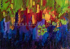 Impressionism Oil on canvas Mykhailova Olga 2018 price . Impressionism, Oil On Canvas, Vines, Art Gallery, About Me Blog, Handmade, Painting, Art Museum, Hand Made