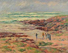 Henry Moret (1856-1913), Gros temps, Finistère, 1908, huile sur toile, 72 x 93 cm.