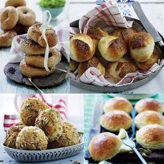Det er så nemt at bage boller, og der er så mange muligheder for variation. Her får du 12 nye opskrifter på de grove, de fine, de søde og de sjove.