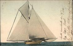 Large Sailboat at Sea