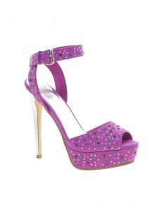 Sandały Asos Suede Style With Studded - Purple/Silver Suede Style, Asos, Sandals, Purple, Heels, Silver, Fashion, Heel, Moda