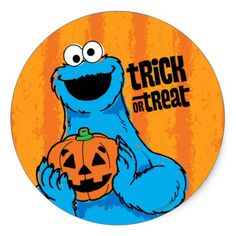 Cookie Monster - Trick Or Treat Classic Round Sticker