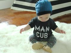 "Ahh! Man Cub from Jungle Book. :) Infant ""Man Cub"" T shirt Tri- Black"