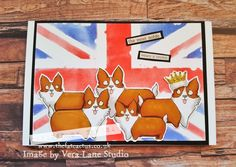 It's September and the start of a new theme for us at Vera Lane Studio Facebook group. This month it is 'The Royals' and I am kicking off the month with these cute corgis! My back…