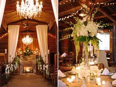 A fireplace as the backdrop for a winter wedding :: Photo by The Photography of Haley Sheffield :: www.haleysheffield.com