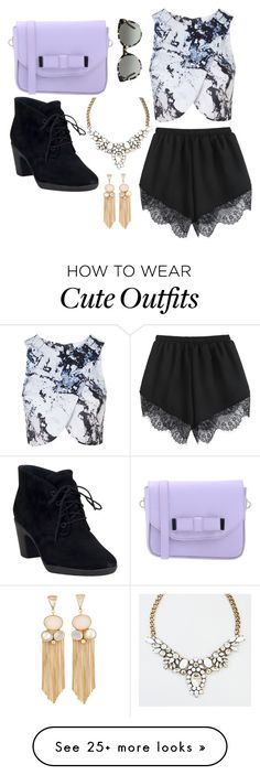 """""""cute outfit 1"""" by teacups87 on Polyvore featuring Pieces, Topshop, Clarks and Tory Burch"""
