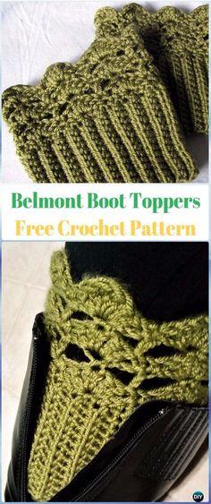Crochet Belmont Boot Toppers Free Pattern - Crochet Boot Cuffs Free Patterns