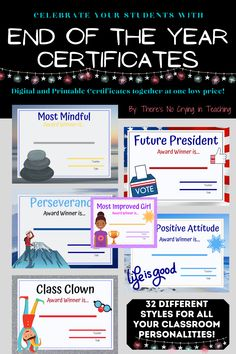 School Resources, Learning Resources, Teacher Resources, Teaching Ideas, Teacher Name, Teacher Pay Teachers, End Of The Year Celebration, Student Awards, Beginning Of The School Year
