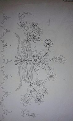 Hand Embroidery and Its Types - Embroidery Patterns Tambour Embroidery, Hand Embroidery Patterns, Vintage Embroidery, Embroidery Applique, Floral Embroidery, Cross Stitch Embroidery, Cross Stitch Patterns, Machine Embroidery, Embroidery Designs