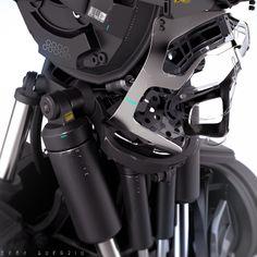 "ideas-about-nothing: "" Robot concept design by Edon Guraziu "" Cyberpunk, Tattoos Bras, Le Manoosh, Hard Surface Modeling, Mekka, Sci Fi Armor, 3d Modelle, Robot Concept Art, Cyborgs"