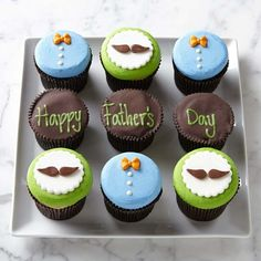 Make Williams Sonoma your source for gourmet foods and professional-quality cookware. Fondant Cupcakes, Mini Cupcakes, Cupcake Cakes, Fathers Day Cupcakes, Fathers Day Cake, Cupcake Cake Designs, Cupcake Toppers, Cupcakes Design, Cupcake Ideas