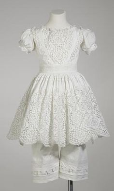 Dress - Childs, Mary Ann Fleming, White Cotton, 1842-1845