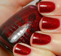 Ruby Pumps by China Glaze... Perfect Christmas color ;)