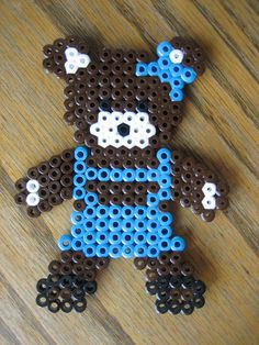 Perler Bead Bear Girl by Kid's Birthday Parties,