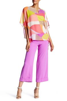 Cuffed Solid Pant by Trina Turk on @HauteLook
