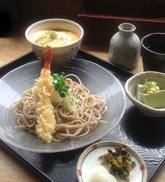 2013.7.31. Soba-Lunch:Yamakake-don, cold ebiten-soba, Tofu(Yoshimura)