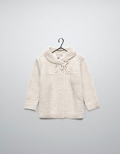 crossover knitted cardigan - Cardigans and sweaters - Baby girl (3-36 months) - Kids - ZARA