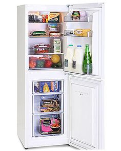 This brand new free standing fridge freezer comes with 2 years parts and labour warranty and is finished in pure white. Features manual controls and glass shelves. A+ rated energy efficiency. Good value!