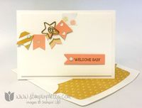Lullaby DSP Note card by Mary Fish; details here: http://www.stampinpretty.com/2014/07/simple-saturday-lullaby-designer-series-paper.html